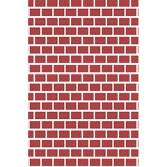 Brick Line Red White 5 5  X 8 5  Notebooks by Mariart