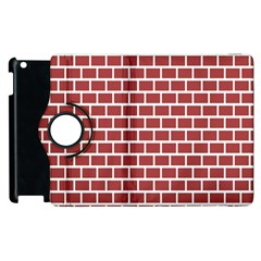 Brick Line Red White Apple Ipad 3/4 Flip 360 Case by Mariart