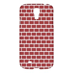 Brick Line Red White Samsung Galaxy S4 I9500/i9505 Hardshell Case by Mariart