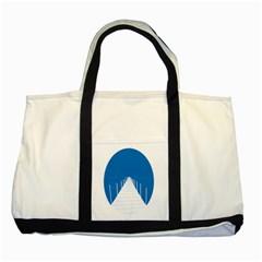 Bridge Sea Beack Blue White Two Tone Tote Bag by Mariart