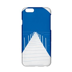 Bridge Sea Beack Blue White Apple Iphone 6/6s Hardshell Case by Mariart