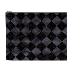 Square2 Black Marble & Black Watercolor Cosmetic Bag (xl) by trendistuff