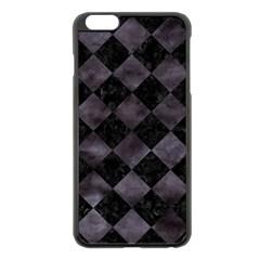 Square2 Black Marble & Black Watercolor Apple Iphone 6 Plus/6s Plus Black Enamel Case by trendistuff