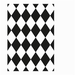 Broken Chevron Wave Black White Small Garden Flag (two Sides) by Mariart