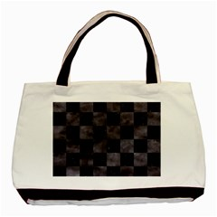 Square1 Black Marble & Black Watercolor Basic Tote Bag (two Sides) by trendistuff