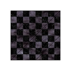 Square1 Black Marble & Black Watercolor Acrylic Tangram Puzzle (4  X 4 ) by trendistuff