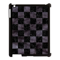 Square1 Black Marble & Black Watercolor Apple Ipad 3/4 Case (black) by trendistuff