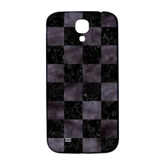 Square1 Black Marble & Black Watercolor Samsung Galaxy S4 I9500/i9505  Hardshell Back Case by trendistuff
