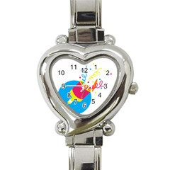 Celebration Injecting Heart Italian Charm Watch by Mariart