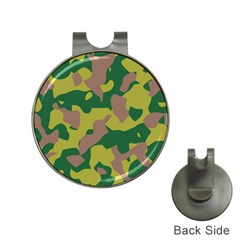 Camouflage Green Yellow Brown Hat Clips With Golf Markers by Mariart