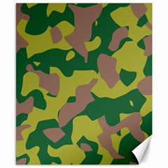 Camouflage Green Yellow Brown Canvas 8  X 10  by Mariart