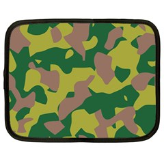 Camouflage Green Yellow Brown Netbook Case (large) by Mariart