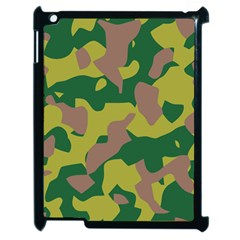 Camouflage Green Yellow Brown Apple Ipad 2 Case (black) by Mariart