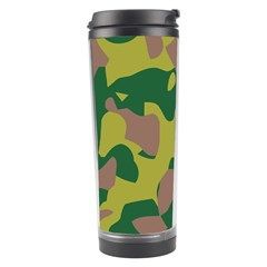 Camouflage Green Yellow Brown Travel Tumbler by Mariart