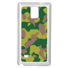 Camouflage Green Yellow Brown Samsung Galaxy Note 4 Case (white) by Mariart