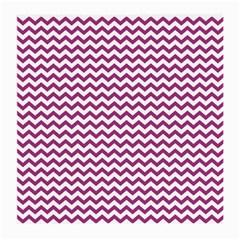 Chevron Wave Purple White Medium Glasses Cloth (2 Side) by Mariart