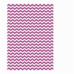 Chevron Wave Purple White Small Garden Flag (two Sides) by Mariart