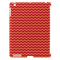 Chevron Wave Red Orange Apple Ipad 3/4 Hardshell Case (compatible With Smart Cover) by Mariart
