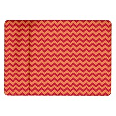 Chevron Wave Red Orange Samsung Galaxy Tab 10 1  P7500 Flip Case by Mariart