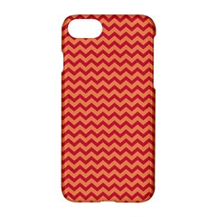 Chevron Wave Red Orange Apple Iphone 7 Hardshell Case by Mariart
