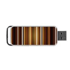 Brown Line Image Picture Portable Usb Flash (two Sides) by Mariart