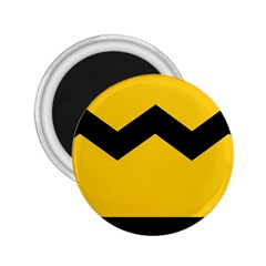 Chevron Wave Yellow Black Line 2 25  Magnets by Mariart