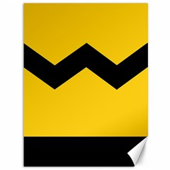 Chevron Wave Yellow Black Line Canvas 36  X 48   by Mariart
