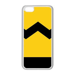 Chevron Wave Yellow Black Line Apple Iphone 5c Seamless Case (white) by Mariart