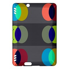 Circles Line Color Rainbow Green Orange Red Blue Kindle Fire Hdx Hardshell Case by Mariart