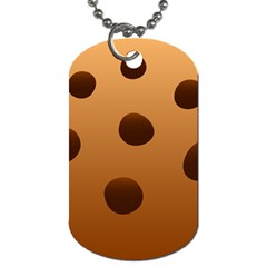 Cookie Chocolate Biscuit Brown Dog Tag (one Side) by Mariart