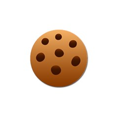 Cookie Chocolate Biscuit Brown Golf Ball Marker by Mariart