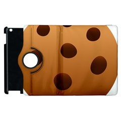 Cookie Chocolate Biscuit Brown Apple Ipad 2 Flip 360 Case by Mariart