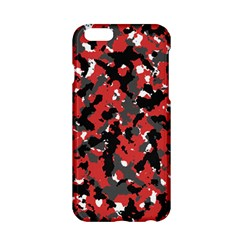 Bloodshot Camo Red Urban Initial Camouflage Apple Iphone 6/6s Hardshell Case by Mariart