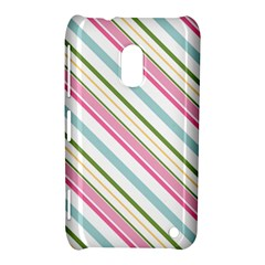 Diagonal Stripes Color Rainbow Pink Green Red Blue Nokia Lumia 620 by Mariart