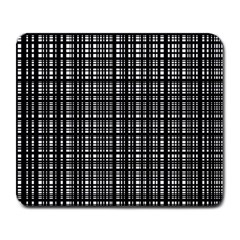 Crosshatch Target Line Black Large Mousepads by Mariart