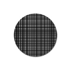 Crosshatch Target Line Black Magnet 3  (round) by Mariart