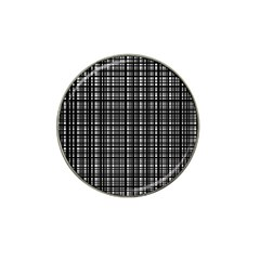 Crosshatch Target Line Black Hat Clip Ball Marker (4 Pack) by Mariart