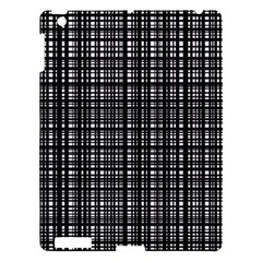 Crosshatch Target Line Black Apple Ipad 3/4 Hardshell Case by Mariart