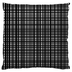 Crosshatch Target Line Black Large Flano Cushion Case (two Sides) by Mariart