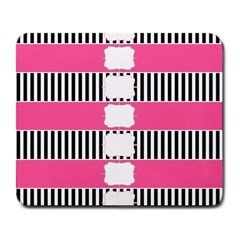 Custom Water Bottle Labels Line Black Pink Large Mousepads by Mariart