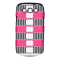 Custom Water Bottle Labels Line Black Pink Samsung Galaxy S Iii Classic Hardshell Case (pc+silicone) by Mariart