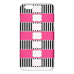Custom Water Bottle Labels Line Black Pink iPhone 6 Plus/6S Plus TPU Case by Mariart