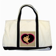 Don t Kiss With A Bloody Nose Face Man Girl Love Two Tone Tote Bag by Mariart