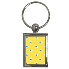 Eye Blue White Yellow Monster Sexy Image Key Chains (rectangle)  by Mariart