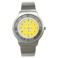 Eye Blue White Yellow Monster Sexy Image Stainless Steel Watch by Mariart