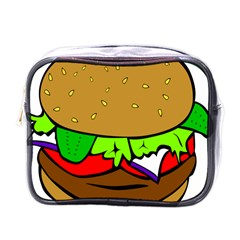 Fast Food Lunch Dinner Hamburger Cheese Vegetables Bread Mini Toiletries Bags by Mariart