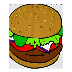 Fast Food Lunch Dinner Hamburger Cheese Vegetables Bread Shower Curtain 60  X 72  (medium)  by Mariart