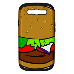 Fast Food Lunch Dinner Hamburger Cheese Vegetables Bread Samsung Galaxy S Iii Hardshell Case (pc+silicone) by Mariart