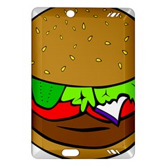 Fast Food Lunch Dinner Hamburger Cheese Vegetables Bread Amazon Kindle Fire Hd (2013) Hardshell Case by Mariart