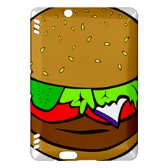 Fast Food Lunch Dinner Hamburger Cheese Vegetables Bread Kindle Fire Hdx Hardshell Case by Mariart